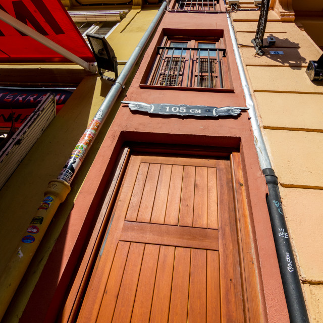 """The narrowest building in Europe, Valencia"" stock image"