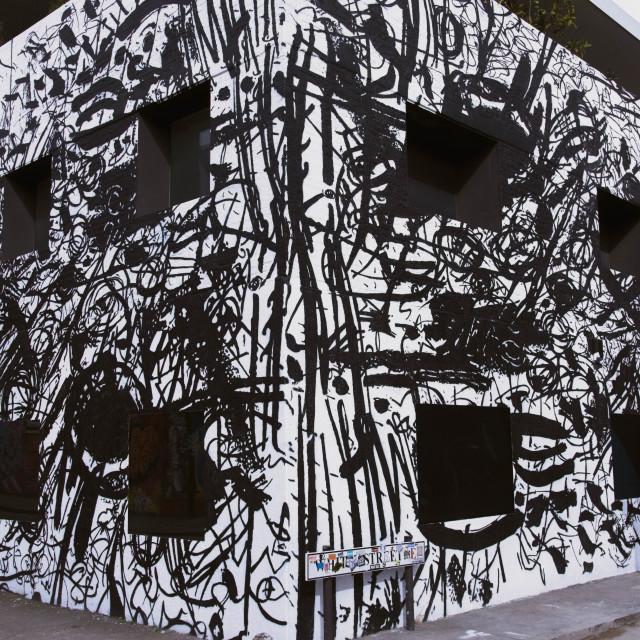 """Shoreditch London Camouflage Street Art"" stock image"