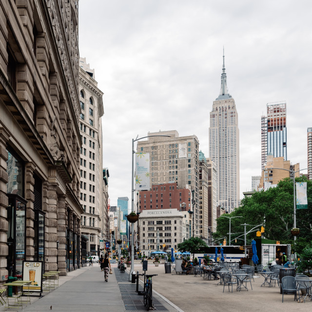 """Madison Square in Flatiron District of New York City"" stock image"