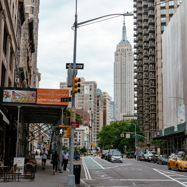 """Broadway Street in Flatiron District of New York City"" stock image"