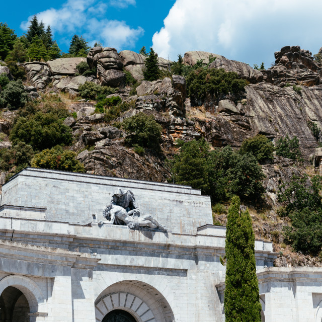 """Valley of the Fallen in Spain"" stock image"