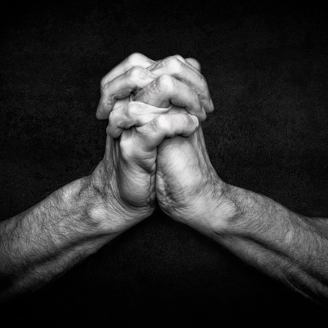 """""""Hands of Praying Man"""" stock image"""
