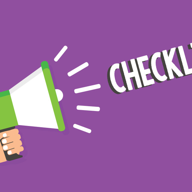 """""""Word writing text Checklist. Business concept for List down of the detailed..."""" stock image"""