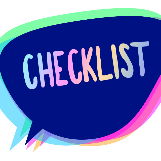 """""""Handwriting text writing Checklist. Concept meaning List down of the detailed..."""" stock image"""