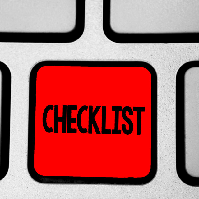 """""""Writing note showing Checklist. Business photo showcasing List down of the..."""" stock image"""