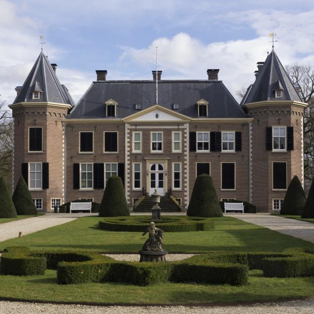 """""""Nijenhuis castle near Diepenheim"""" stock image"""