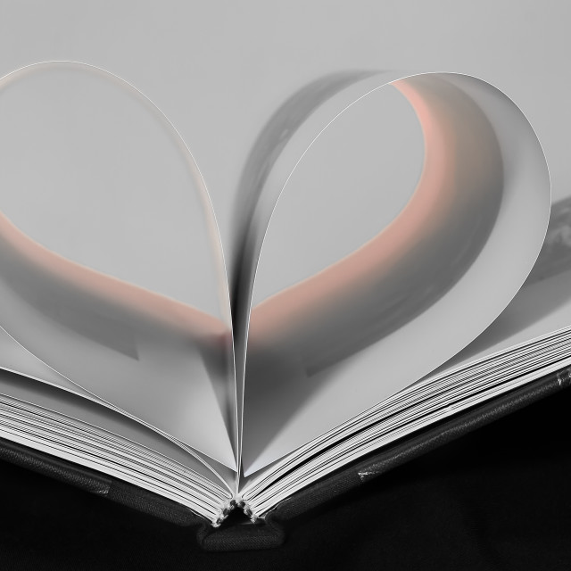 """Heart on a Page"" stock image"