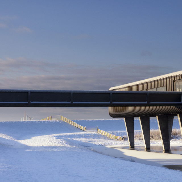 """""""Visitor centre Wouda pumping station"""" stock image"""