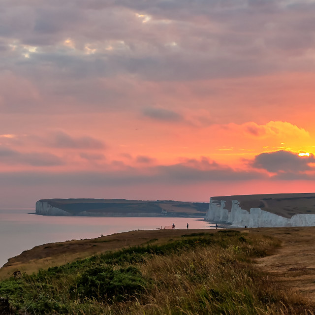 """Last light from Belle Tout"" stock image"