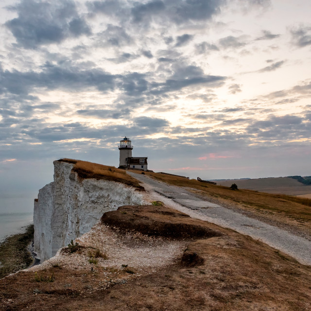 """Belle Tout Lighthouse and Cliffs"" stock image"