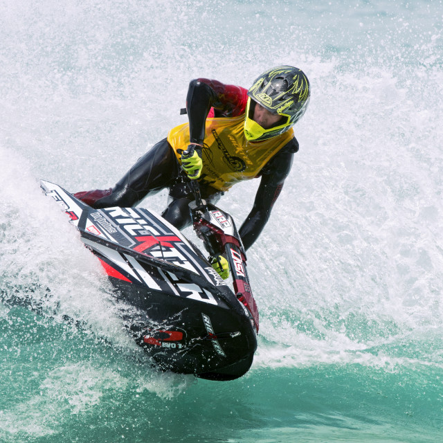 """Jet-ski turns"" stock image"