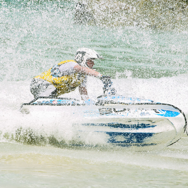 """Jet-ski spray"" stock image"