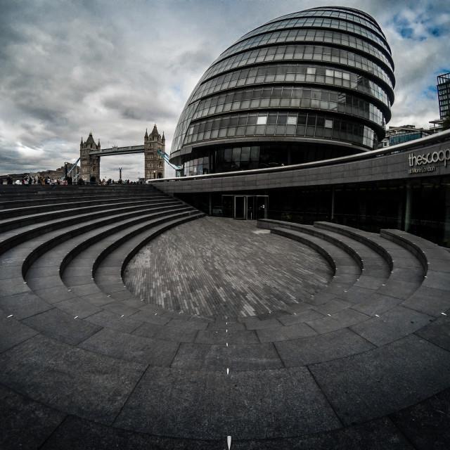 """City Hall, London"" stock image"