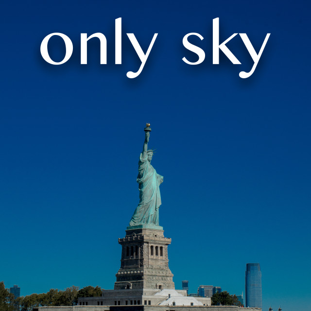 """""""Above us only sky...."""" stock image"""