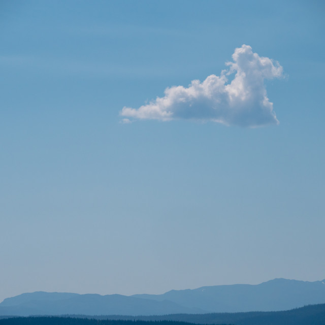 """Single summer cloud"" stock image"