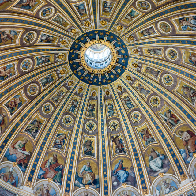 """Roof of St Peter's Basilica"" stock image"