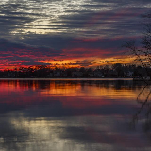 """Sunset on Lake Norman"" stock image"