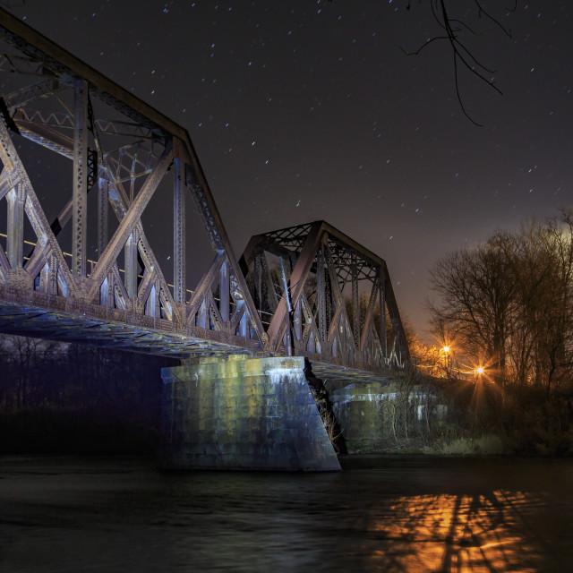 """Railroad Bridge"" stock image"