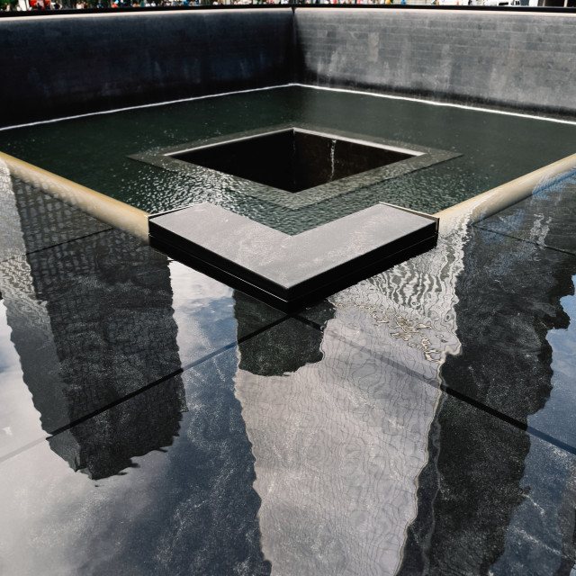 """National September 11 Memorial in New York City"" stock image"