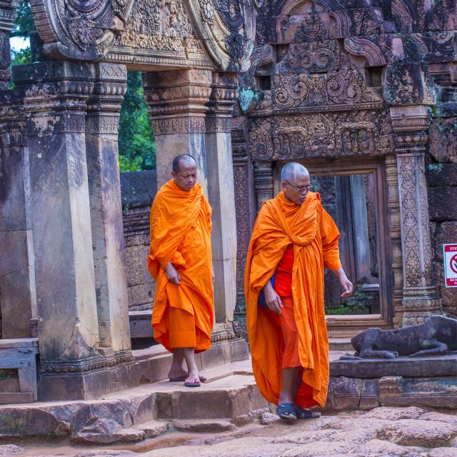 """Banteay Srei Temple in Cambodia"" stock image"