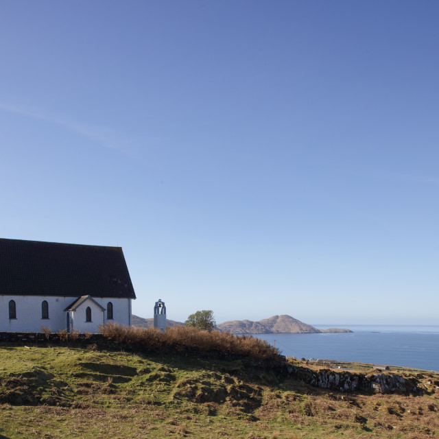 """Lohar church Waterville Ring of Kerry"" stock image"