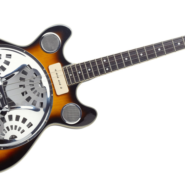 """Tenor resonator guitar"" stock image"