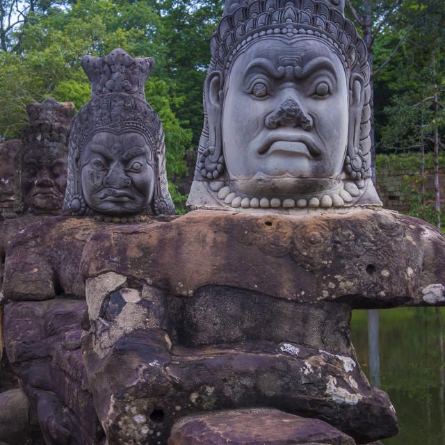 """Angkor Thom Cambodia"" stock image"
