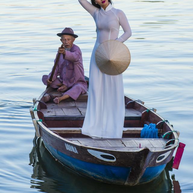 """Vietnamese woman with Ao Dai dress"" stock image"
