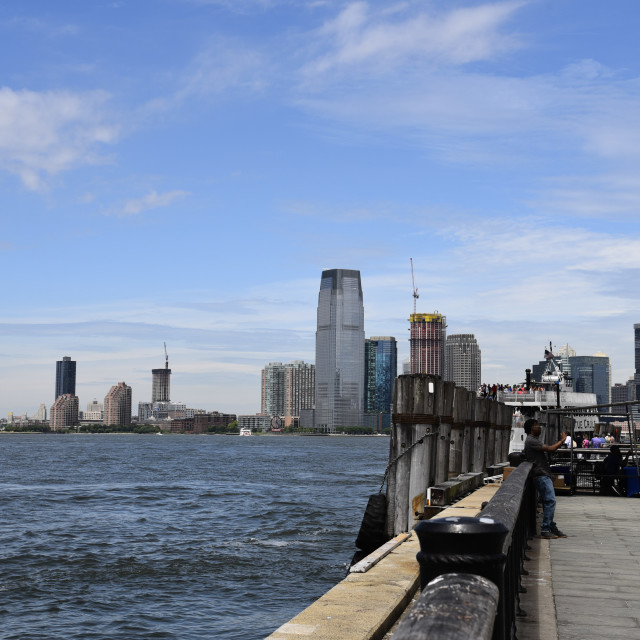 """Scenic view of Battery Park and New Jersey"" stock image"