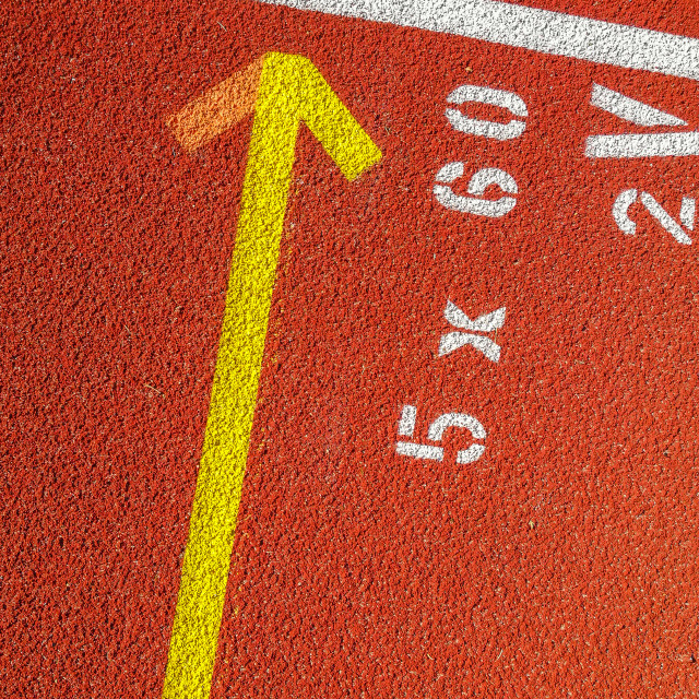 """""""Numbers on a track"""" stock image"""