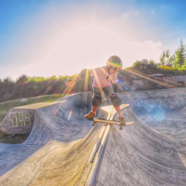 """""""Chudleigh skatepark"""" stock image"""