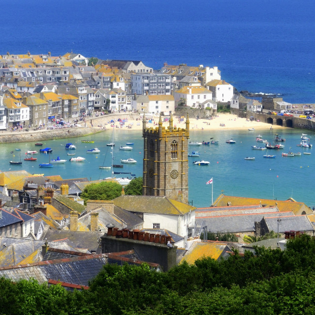 """St Ives, Cornwall,England,UK"" stock image"