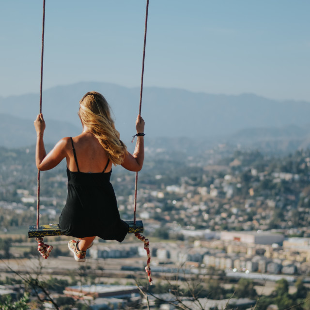 """Blonde swing"" stock image"