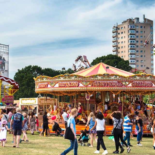 """Lambeth Country Show Funfair"" stock image"