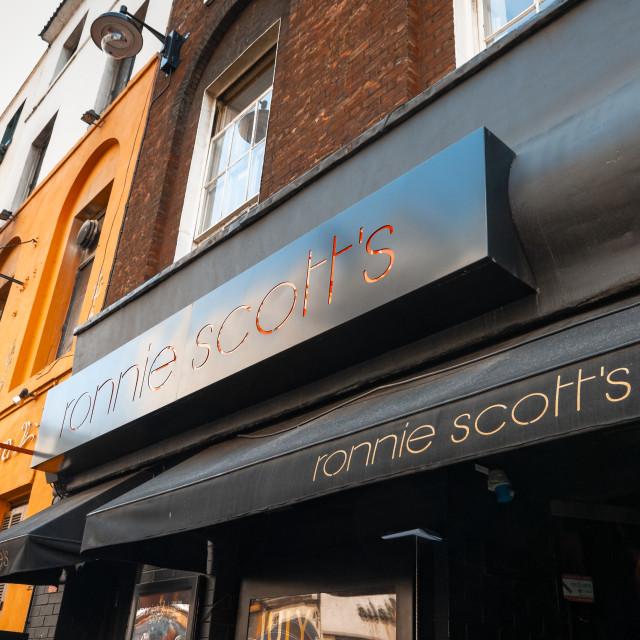 """Ronnie Scotts Jazz Club, 47 Frith Street, Soho"" stock image"