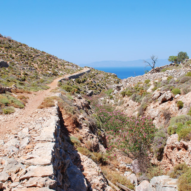 """""""Path to Gera, Tilos"""" stock image"""