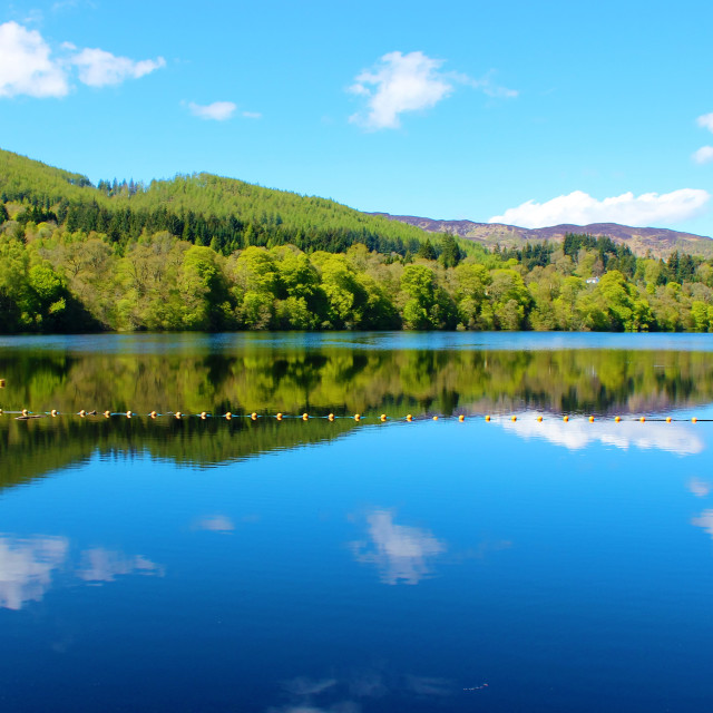 """""""Loch Faskally."""" stock image"""