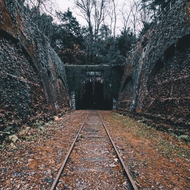 """""""Abandoned railway line"""" stock image"""