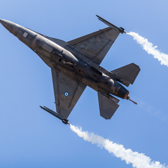 """""""Hellenic Air Force F-16C"""" stock image"""