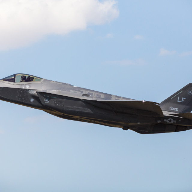 """US Air Force F-35A Lightning II"" stock image"