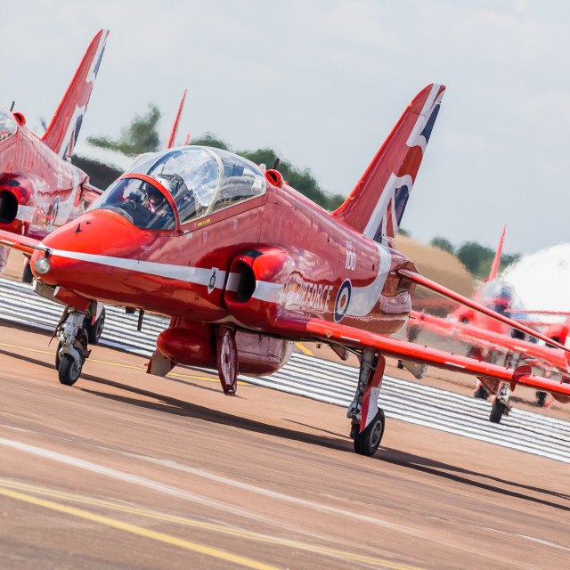 """""""Royal Air Force Aerobatic Team the Red Arrows"""" stock image"""