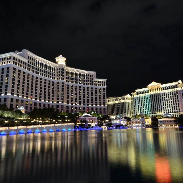 """Bellagio hotel and casino in Las Vegas, Usa."" stock image"