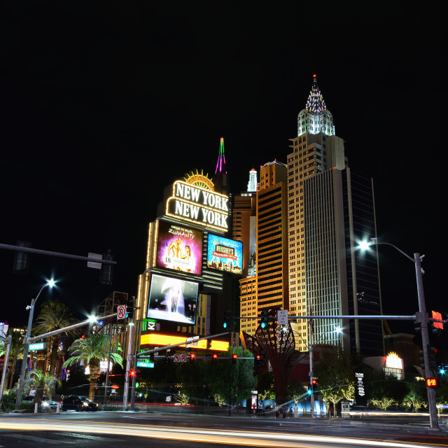"""New York New York hotel and casino in Las Vegas."" stock image"
