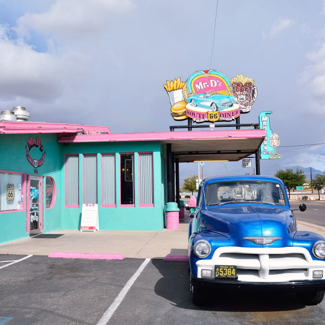 """Mr. Dz Route 66 Diner in Kingman"" stock image"