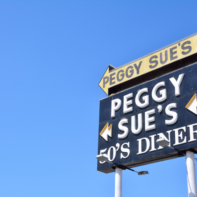 """Peggy Sue's 50's Dinner."" stock image"