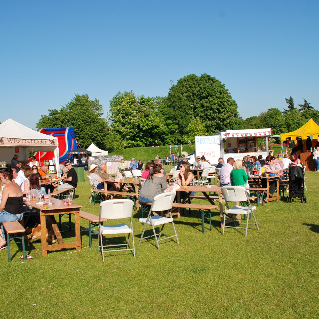 """""""Tenterden Food and Drink Festival, Kent"""" stock image"""