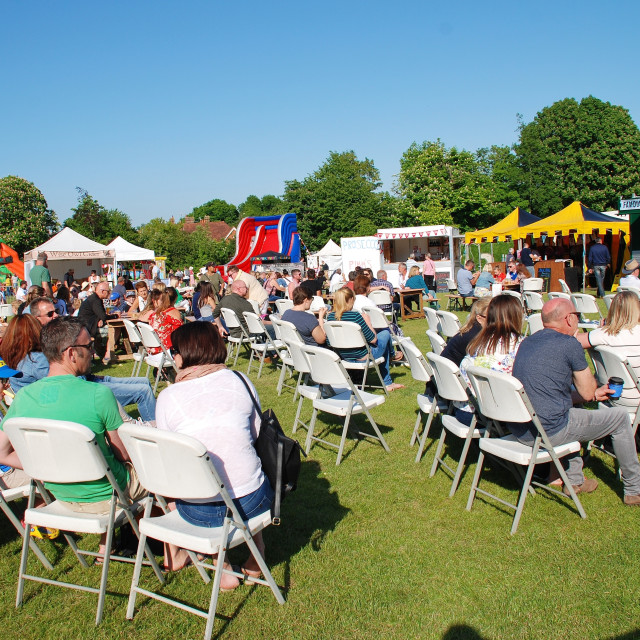 """""""Food and Drink Festival, Tenterden"""" stock image"""