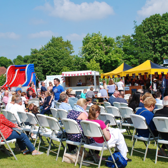 """""""Food and Drink Festival at Tenterden, Kent"""" stock image"""