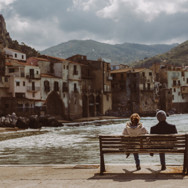 """Cefalu Couple"" stock image"