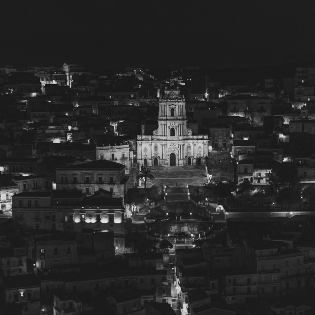 """Modica at Night"" stock image"